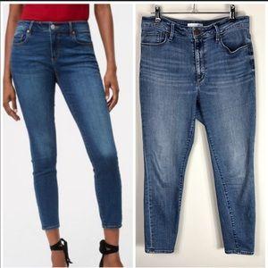 LOFT High Rise Curvy Skinny Ankle Denim Jeans